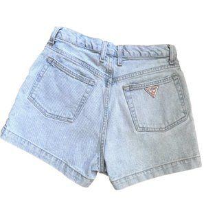 Vintage Guess Jeans light denim high waist shorts